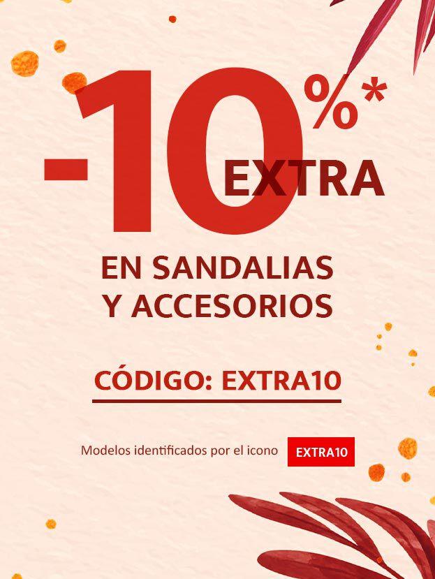 ¡Sí! -10% extra en sandalias y accesorios!! Código: EXTRA10