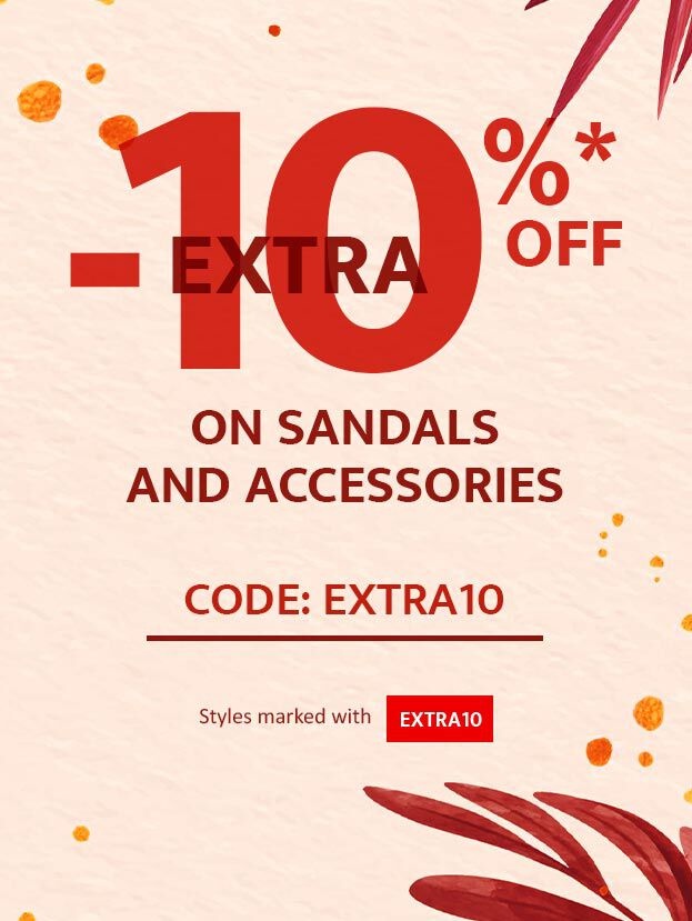 Yes! 10% extra off on sandals and accessories!! Code: EXTRA10